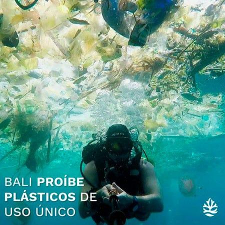 Ilha de Bali na Indonésia proíbe plásticos de uso único